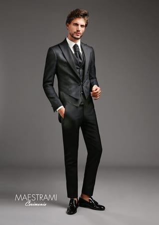 vestito da sposo grigio maestrami