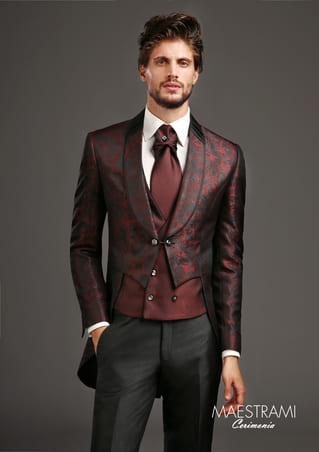 abito damascato rosso Maestrami