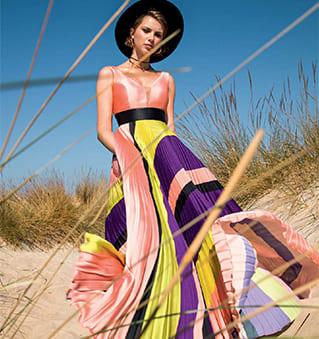 vestito lungo colorato mischalis