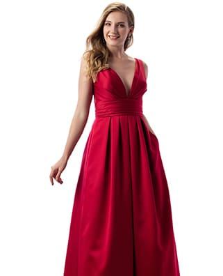 abito da damigella rosso solo gioie