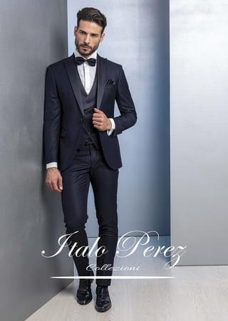 abito classico da cerimonia blu scuro italo perez petrelli