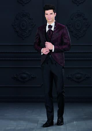 abito damascato rosso giuseppe rocchini