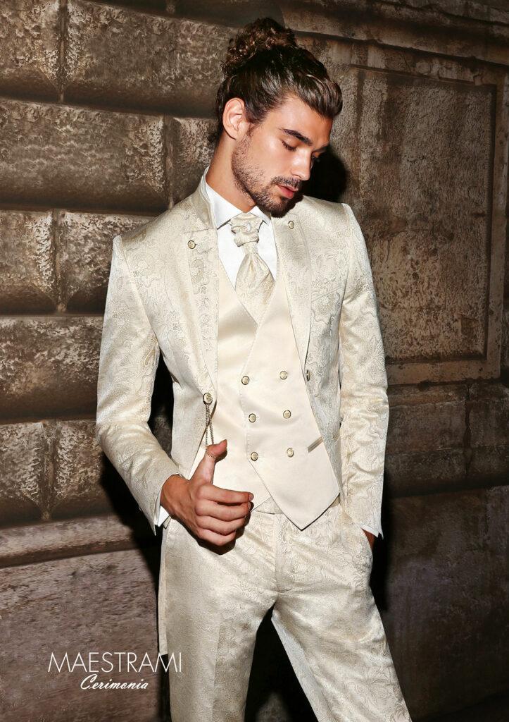 abito damascato bianco maestrami