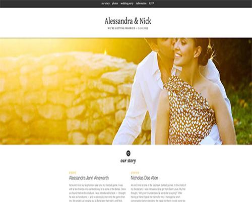 creazione pagina web per il matrimonio empoli