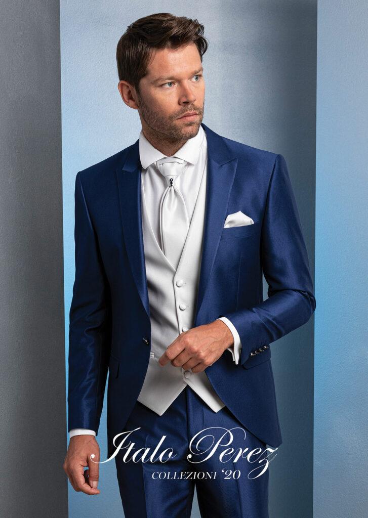 giacca-collo-a-lancia-blu-gilet-chiaro-italo-perez