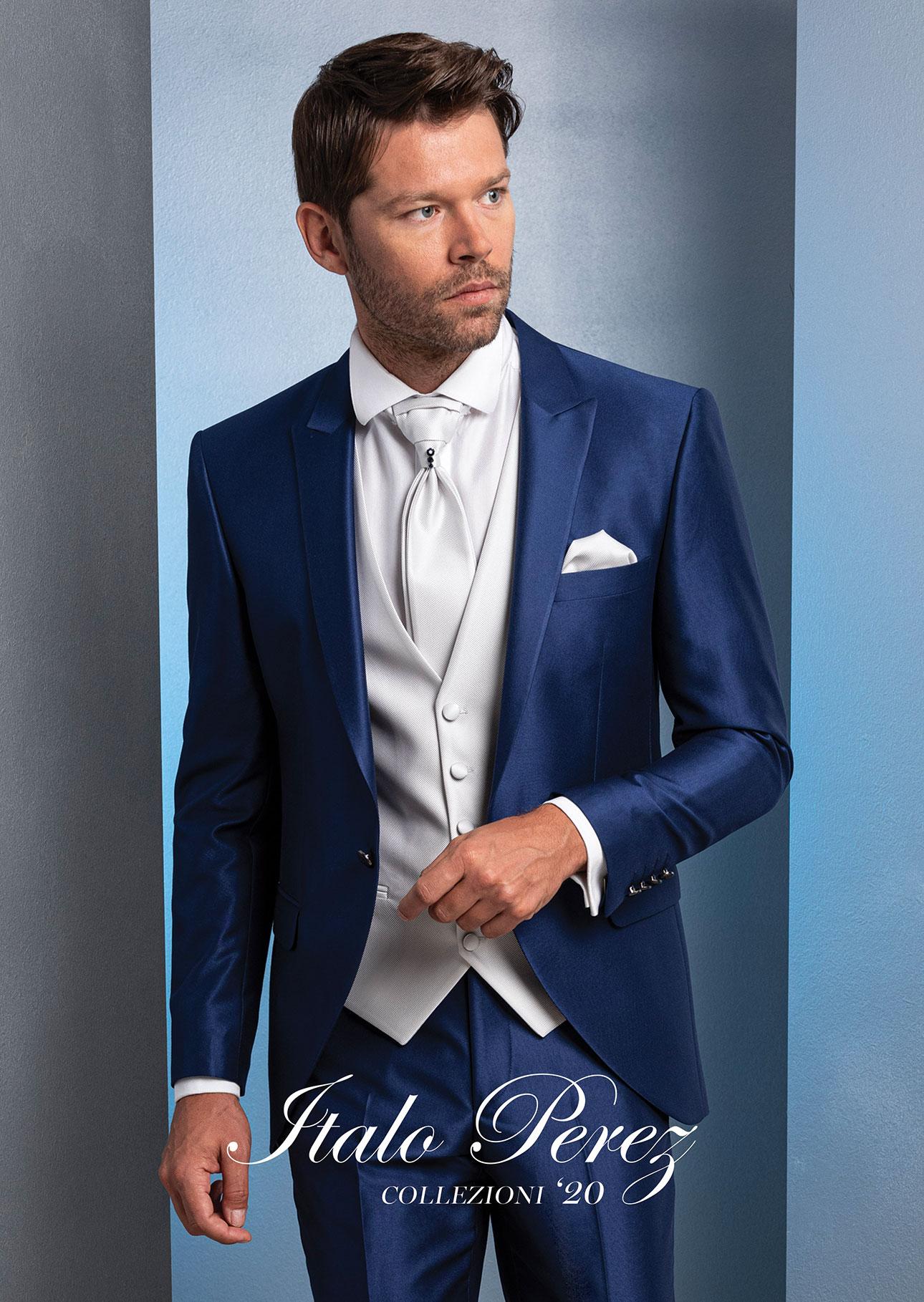 abito blu collo a lancia rever nero italo perez