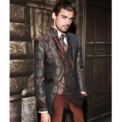 giacca lunga damascata bronzo maestrami